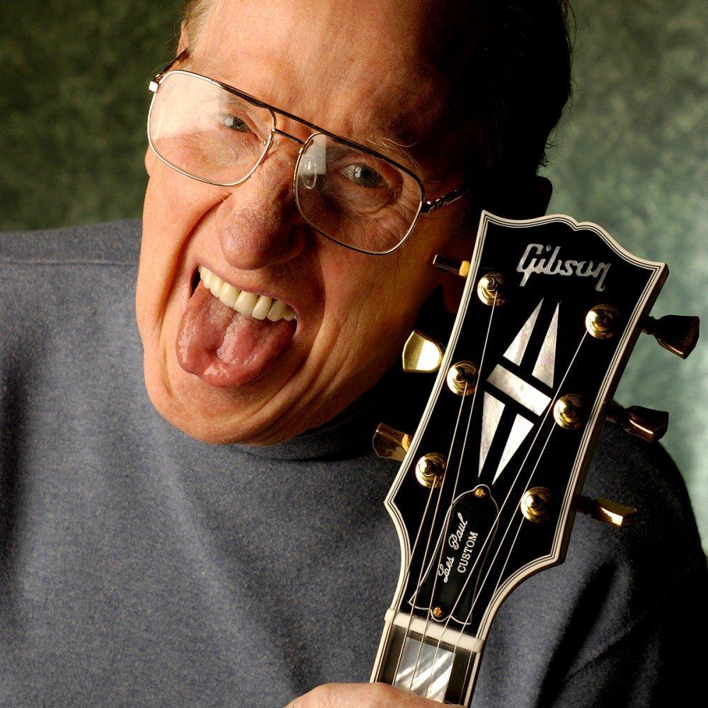 Les Paul with Gibson Les Paul Model guitar
