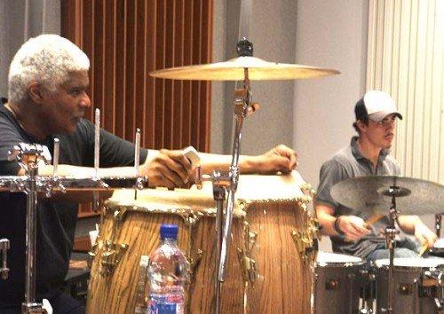 Don Alias & Julius Pastorius at rehearsal